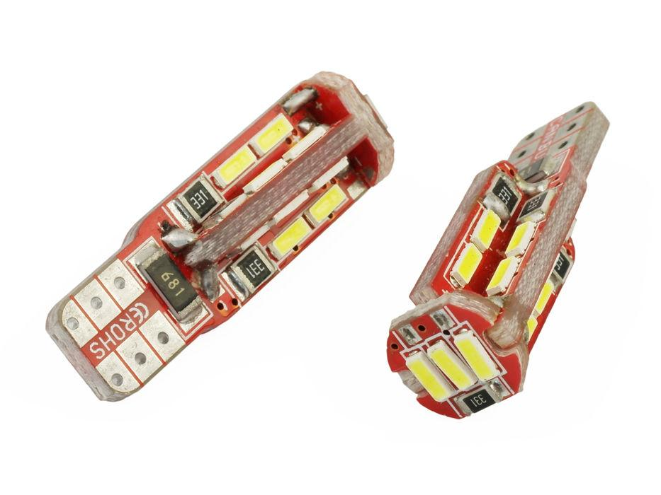 Interlook LED auto žárovka LED W5W T10 19 SMD 4014 CAN BUS